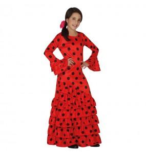 disfraz de flamenca rojo infantil feria abril