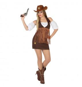 Disfraz de Vaquera con Flecos