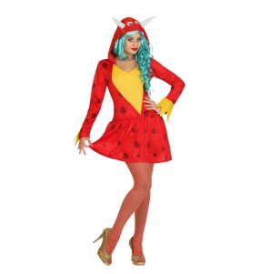 Disfraz de Dragón Rojo Mujer