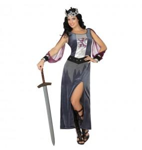 Disfraz de Soldado Medieval Plateada