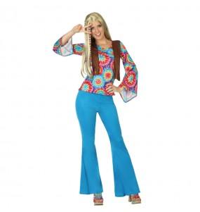 Disfraz de Hippie Flower Mujer