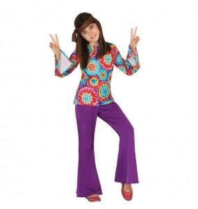 Disfraz de Hippie Flower Niña