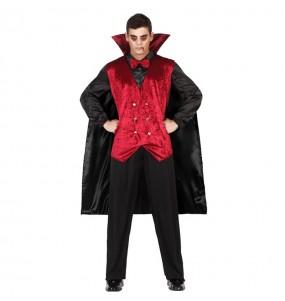 disfraz vampiro rojo Drácula adulto