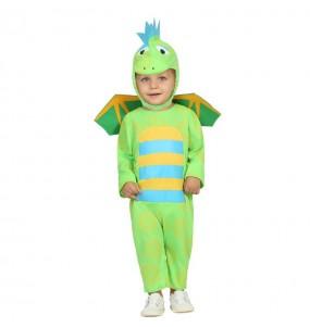 Disfraz de Dragón Verde Bebé