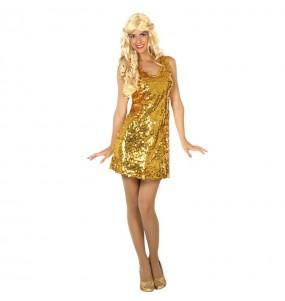 Disfraz Disco Lentejuelas Oro