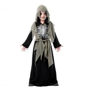 Disfraz de Esqueleto 3D Gris