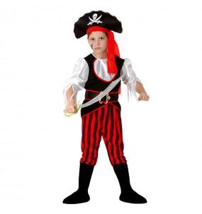 Disfraz de Pirata rayas niño