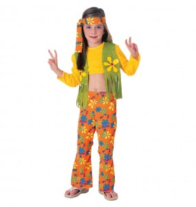 Disfraz de Hippie Flor niña