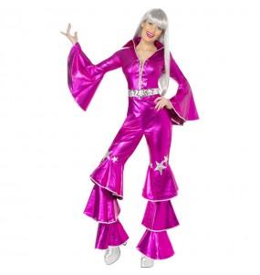 Disfraz Chica Disco Dancing Rosa para mujer