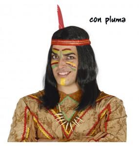 Peluca de Indio con pluma