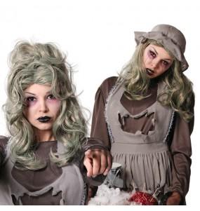 peluca zombie mujer Halloween