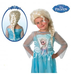 Peluca Elsa Frozen Disney infantil