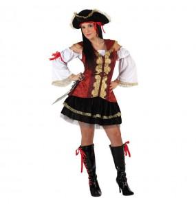 Disfraz de Pirata Lujo para mujer
