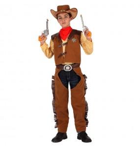 Disfraz de Vaquero Marrón niño