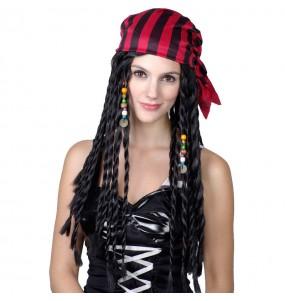 Peluca pirata mujer