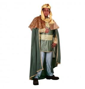 Disfraz de Rey Mago Baltasar adulto