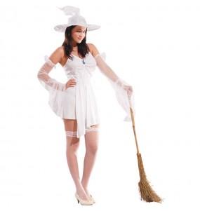 Disfraz de Bruja Blanca para mujer