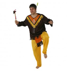 Disfraz de Indio Marrón hombre