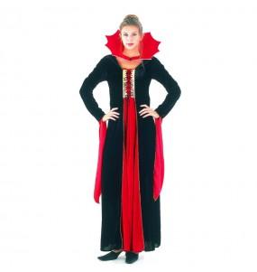 Disfraz de Vampiresa gótica roja