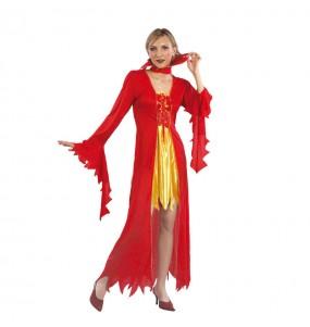 Disfraz de Diablesa rojo oro