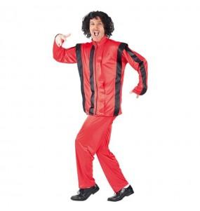 Disfraz de Rey del Pop Rojo