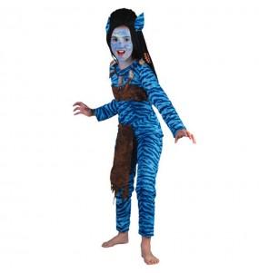Disfraz de Guerrera Jungla-Avatar para niña