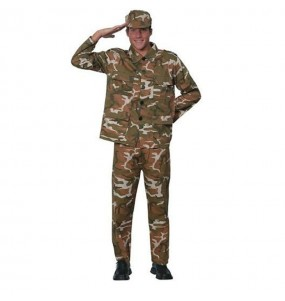 Disfraz de Militar Camuflaje hombre