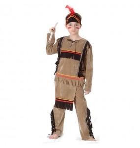 Disfraz de Indio Marrón infantil