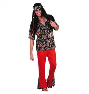 Disfraz de Hippie Estampado hombre