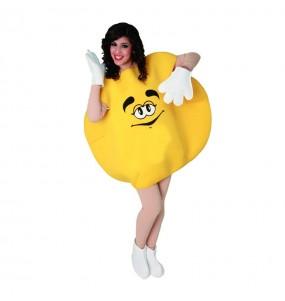 Disfraz de Caramelo Amarillo para Adulto
