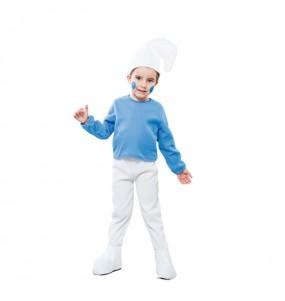 Disfraz de Enanito azul para niños pequeños