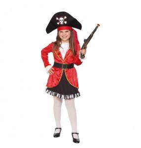 Disfraz de Pirata Garfio para niña