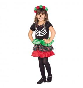 Disfraz de Esqueleto Catrina Peque