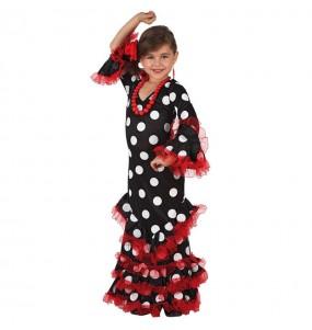 Disfraz de Niña Sevillana Negro