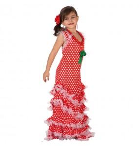 Disfraz de Niña Sevillana Rojo