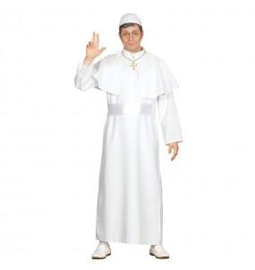 Disfraz de Papa de Roma Blanco