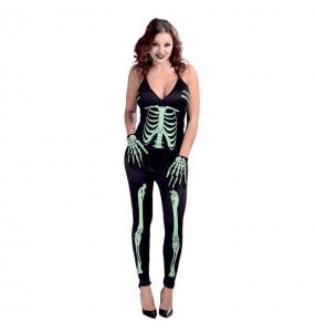 Disfraz de Esqueleto Fluorescente sexy