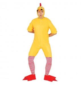 Disfraz de Pollito amarillo adulto