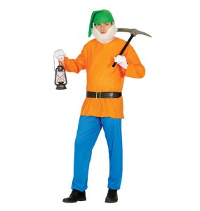 disfraz enanito naranja hombre