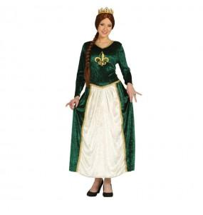 Disfraz de Dama Medieval Verde shrek mujer