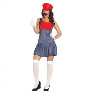 Disfraz de Chica Mario Bros mujer