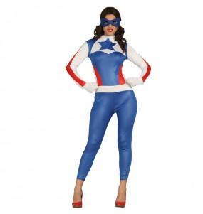Disfraz de Capitana América mujer