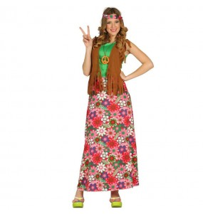 Disfraz Hippie Largo Mujer