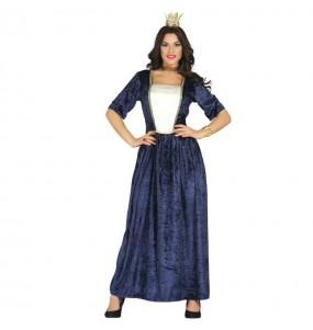Disfraz de Dama Medieval Azul mujer adulto