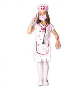 disfraz enfermera sangrienta zombie infantil