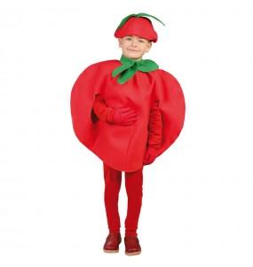 disfraz tomate hortaliza infantil