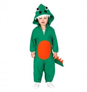 Disfraz de Dinosaurio Verde Bebé