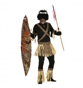 Disfraz de Zulú Caníbal