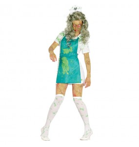 disfraz zombie radioactivo mujer