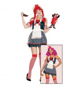 disfraz muñeca trapo adulto